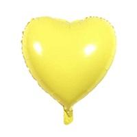 Soft Renk Sarı Kalp Folyo Balon