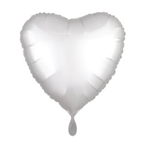Soft Renk Gümüş Kalp Folyo Balon