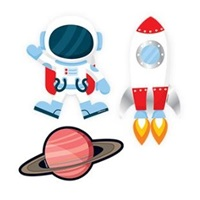 Uzay Temalı Sticker