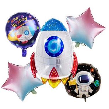 Uzay Temalı Folyo Balon Seti