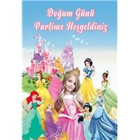 Prensesler Karşılama Panosu Kişiye Özel