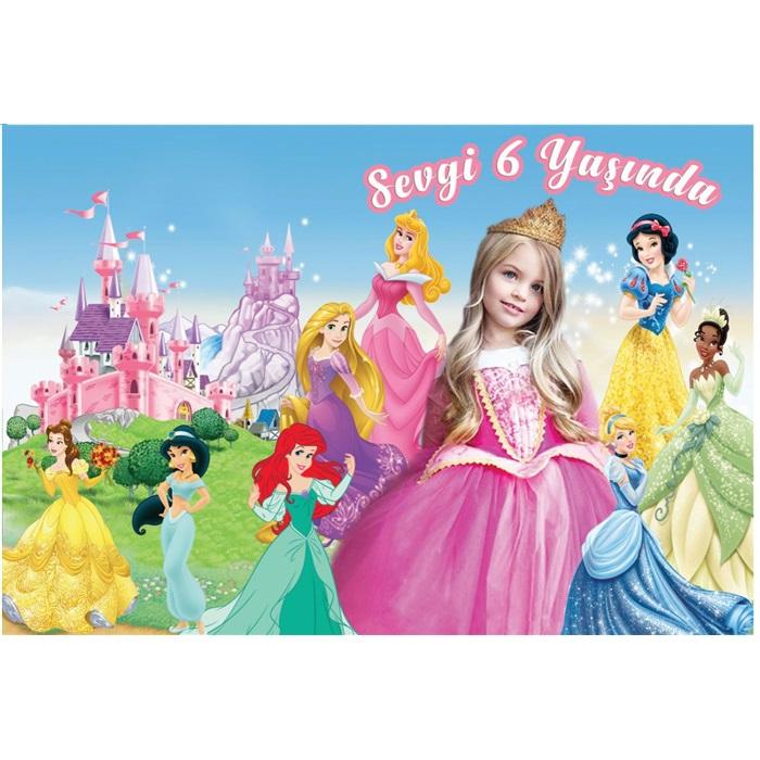 Prensesler Duvar Panosu Kişiye Özel