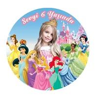 Prensesler Sticker Kişiye Özel