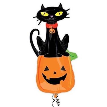Cadılar Bayramı Kedi Folyo Balon