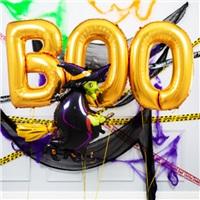 Cadılar Bayramı Gold Boo Folyo Balon