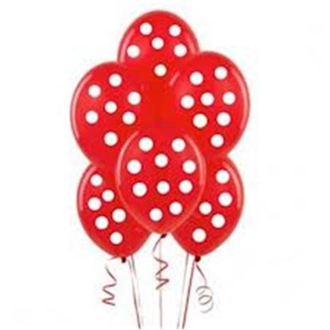 Kırmızı Puanlı Balon