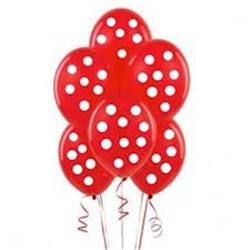 kırmızı Puanlı Balon 15li