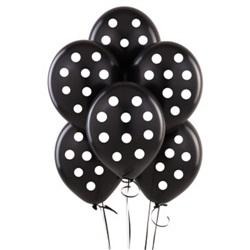 Siyah Puanlı Balon 15 Adet