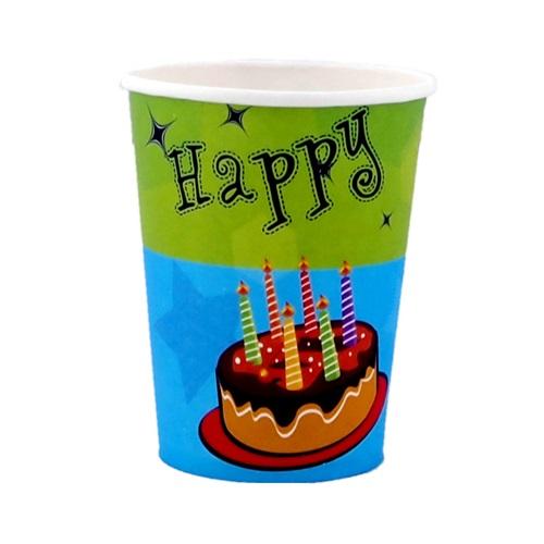 Pastalı Happy Birthday Bardak