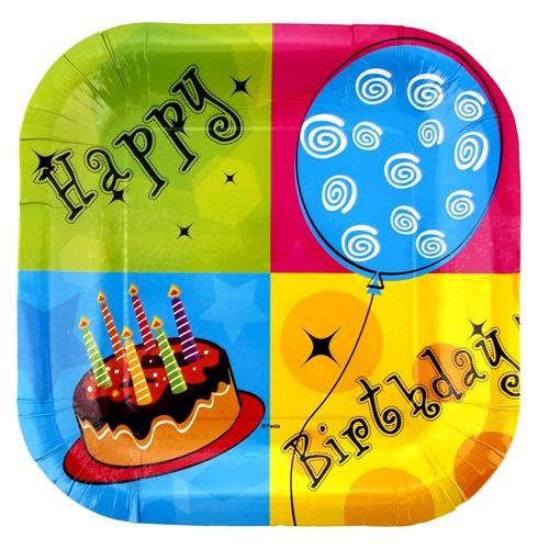 Pastalı Happy Birthday Tabak