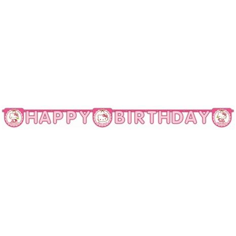 Hello Kitty Happy Birthday Yazı