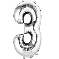 3 Folyo Balon Metalik