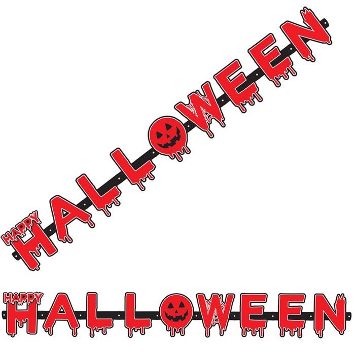 Kanlı Halloween Asma Yazı Süs
