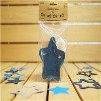 Dekorasyon Yıldızlar Gümüş Mavi ve Lacivert