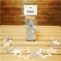 Dekorasyon Yıldızlar Sedef Somon ve Gri