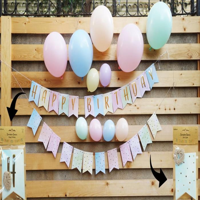 Soft Renkler Doğum Günü Süsleme Seti