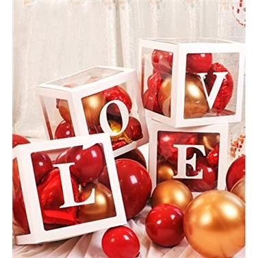 Şeffaf Kutu ve Harf Beyaz Love