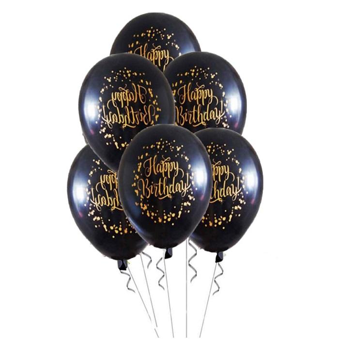 Siyah Happy Birthday Balon