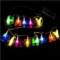 Doğum Günü Özel Happy Birthday İp Led Işık 1,8 Metre