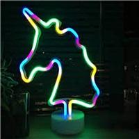 Unicorn Neon Led Işıklı Masa-Gece Lambası Dekoratif Neon Led Lamba