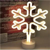 Kar Tanesi Neon Led Işıklı Masa-Gece Lambası Dekoratif Neon Led Lamba