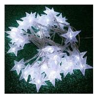 Led Işıklı 24 Kristal Yıldız ( Renkli) pilli Dekoratif I;ik