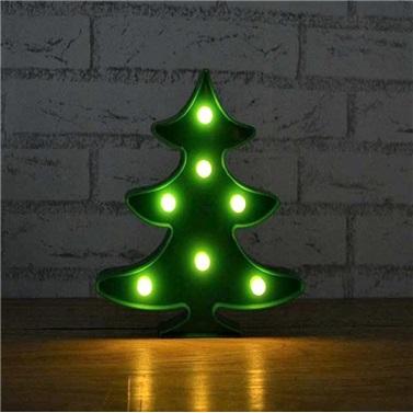 Çam Ağacı Figürlü Led Işıklı Gece Lambası Dekoratif Aydınlatma