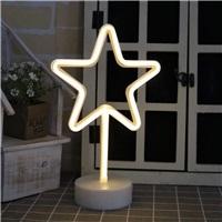 Yıldız Neon Led Işıklı Masa-Gece Lambası Dekoratif Neon Led Lamba