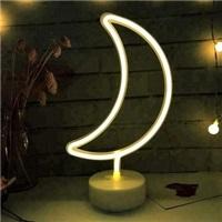 Ay Neon Led Işıklı Masa-Gece Lambası Dekoratif Neon Led Lamba