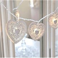 Metal Kalp Sıralı Led Işık Dekoratif Lamba Aydınlatma