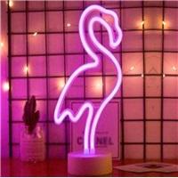 Flamingo Neon Led Işıklı Masa-Gece Lambası Dekoratif Neon Led Lamba