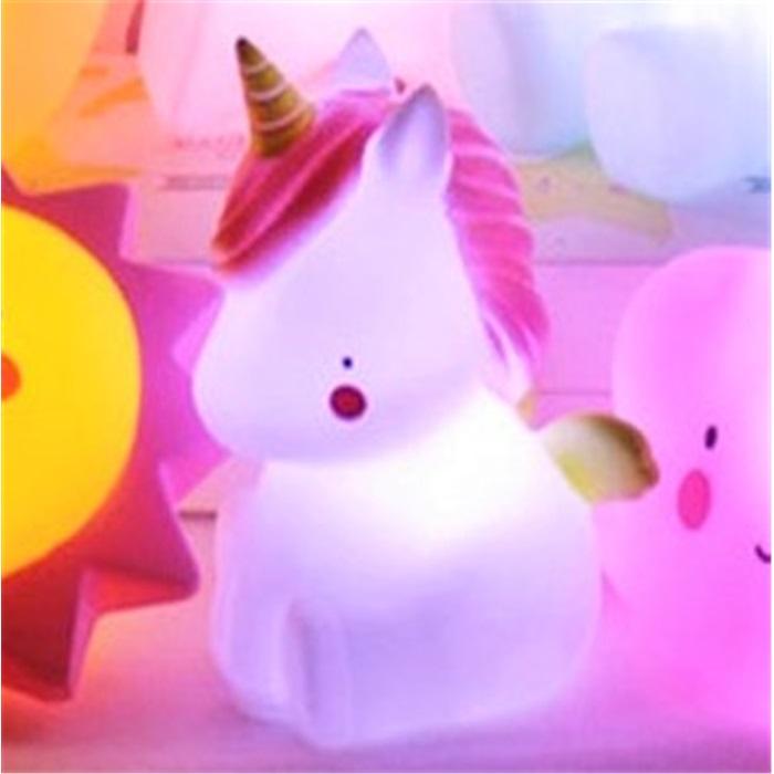 Unicorn Işıklı Silikon Gece Lambası Hediyelik