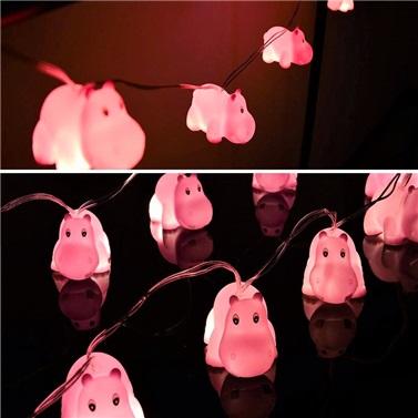 HİPOPOTAM Figürlü Sıralı Led Işık Dekoratif Lamba Aydınlatma