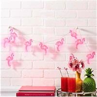 Flamingo Figürlü Sıralı Dize Led Işık Dekoratif Lamba Aydınlatma