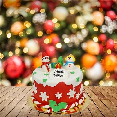 Mutlu Yıllar Yılbaşı Pastası 2021