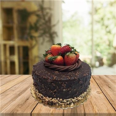 Çilekli-Çikolatalı Pasta