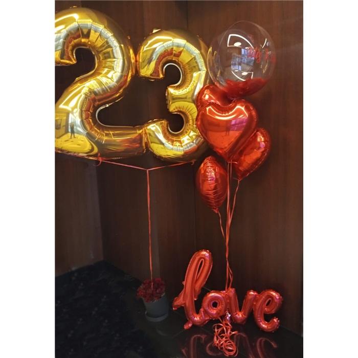 Love Kalp Balon Demet Aranjman