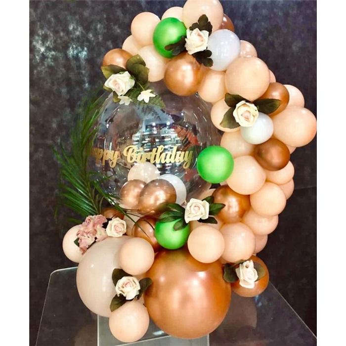 Çiçekli Balon Buket Aranjman