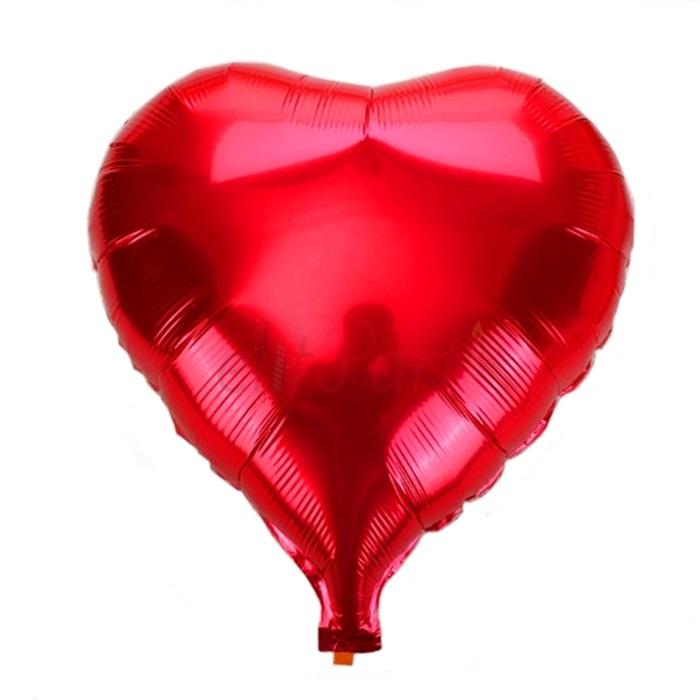 Kalp Folyo Balon Kırmızı