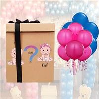 Sevgiliye Sürpriz Uçan Balon Kutusu