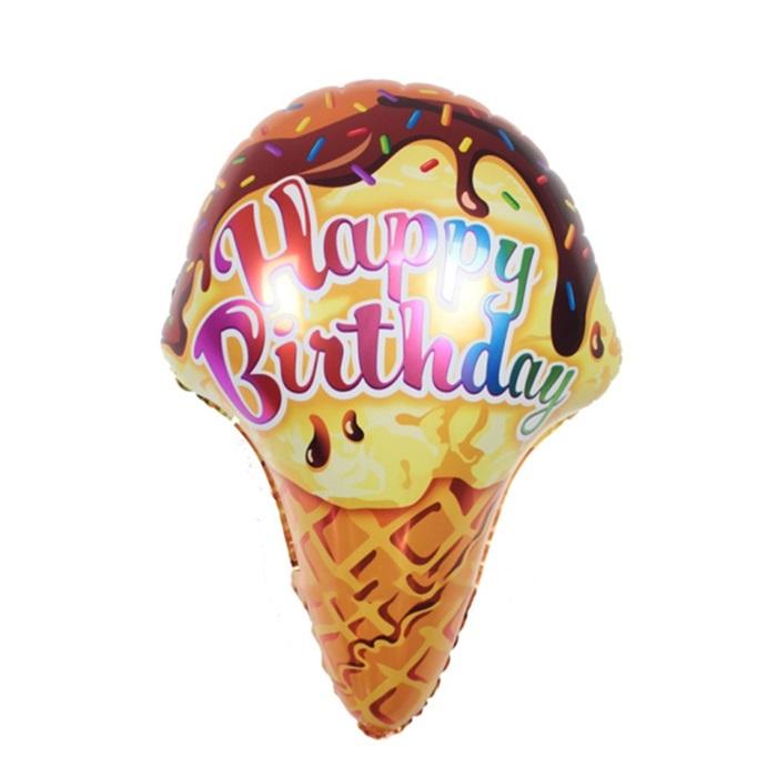 Dondurmalı Happy Birthday Folyo Balon