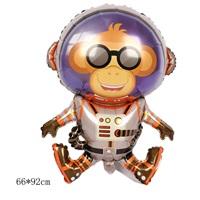 Astronot Maymun Folyo Balon