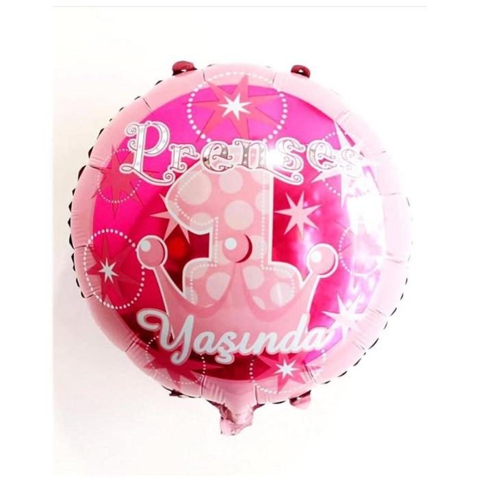 Prenses 1 Yaşında Folyo Balon