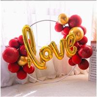 Love Yazılı Ayaklı Çember Balon Tag
