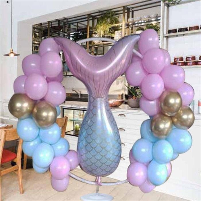 Deniz Kızı Ayaklı Çember Balon Tag