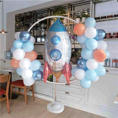 Roket Ayaklı Çember Balon Tag