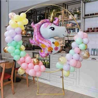 Unicorn Ayaklı Çember Balon Tag