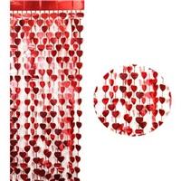 Kırmızı Kalp Perde Süs