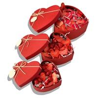 Sevgililer Günü Kırmızı Kalp Kutu 2