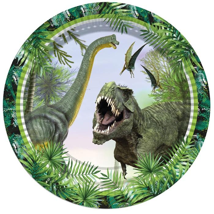 Vahşi Dinozor Tabak